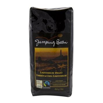 Jumping Bean Lighthouse Roast Coffee Fair Trade and Organic, Whole Bean - 1 lb