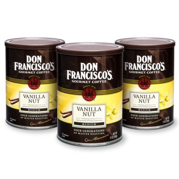 F. Gavi A & Sons, Inc. Don Francisco's Hawaiian Hazelnut, Medium Roast, Ground Coffee, 12 oz. (Pack of 3)