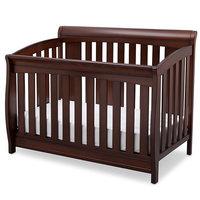 Delta Children Clermont 4-in-1 Convertible Baby Crib, Chocolate