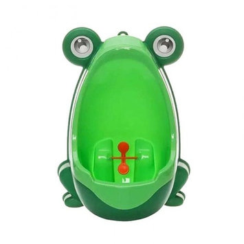 VALINK Lovely Froggy Baby Urinal, Boy's Urinal for Children Potty Toilet Training ,Kid Urinal for Boy Pee Trainer Bathroom -Green, 21 x 15 x 29CM