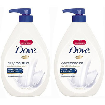 Dove Body Wash, Deep Moisture Pump, 34 Ounce,