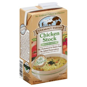 Harmony Farms Chicken Stock Reduced Sodium 32 Fl Oz. Pack Of 12