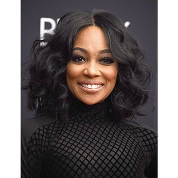 100% Brazilian Human Hair Wigs Lace Front Wigs Short Bob Wavy Wig Natural Looking Loose Wave Human Hair for African-American Black Woman