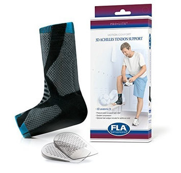 FLA Orthopedics 7623432 Pro-Lite 3D Achilles Tendon Support Charcoal Medium