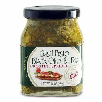 Elki Basil Pesto, Black Olive & Feta Crostini Spread