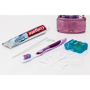 Canvas Print Dental Toothbrush Mouthwash Toothpaste Dental Floss Stretched Canvas 10 x 14