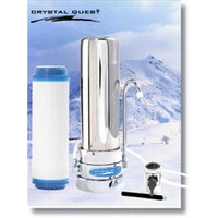 CRYSTAL QUEST CQE-CT-00112 Countertop Replaceable Single Multi PLUS Water Filter System