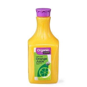 Marketside Organic Orange Juice with Pulp, 59 fl oz