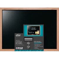 Mega Brands THE BOARD DUDES 23INX17IN CHALK BOARD OAK WOOD FRAME WITH ACCS