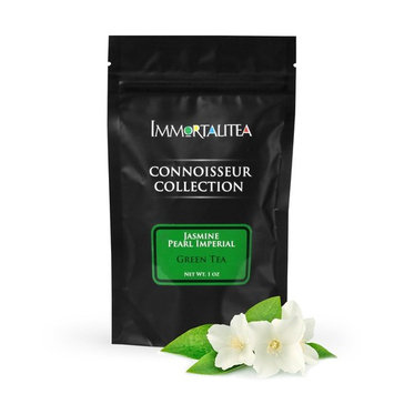 Jasmine Green Tea Pearls Handrolled - Imperial Loose Leaf - Connoisseur Collection - 1 oz [Imperial Jasmine Pearls]