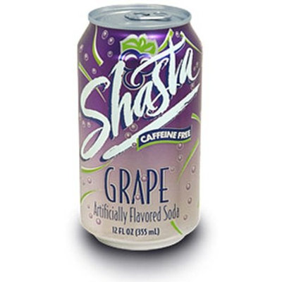 Shasta Grape Soda, 12-Ounce Cans (Pack of 24)