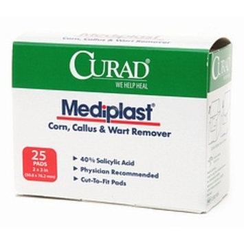 Curad Mediplast Corn, Callus and Wart Remover Pads, 2