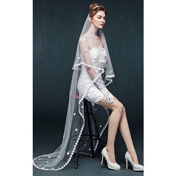 Exquisite SelebrityBridal Wedding Veil Embellish Lace Flower