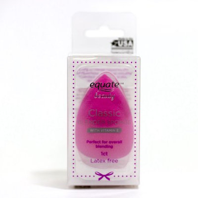 Diversified Global Technologies Equate Beauty Blender, Egg-Shaped, Latex Free, With Vitamin E, Pink