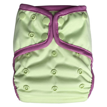 EcoAble Baby Waterproof PUL Cloth Diaper Cover AI2, Snaps (Size 1 / 8-25lb, Green)