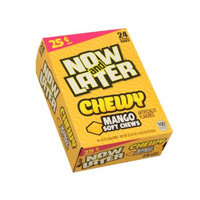 Ferrara Candy Company Now and Later Chewy Candy, Mango Flavor, 0.93 Ounce Bar, Pack of 24