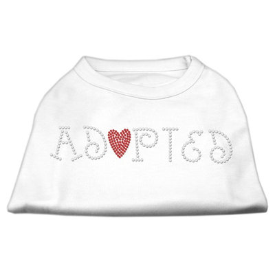 Mirage Pet Products 5202 LGWT Adopted Rhinestone Shirt White L 14