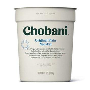 Chobani Plain 0% Greek Yogurt, 40 oz