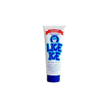 Lice Ice Extra Strength Lice Treatment (8oz)   Healthy, Non-Toxic Hair-gel Based Solution that Kills Lice and Nits   Doctor Recommended and Safe to Use for Kids and Adults Alike