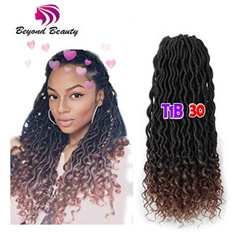 Wavy Faux Locs Crochet Hair Curly Ends Synthetic Braiding Goddess Hair Extensions 6Pcs/Lot.