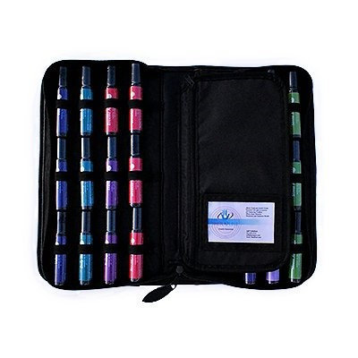 Therapure Health Essentials Essential Oil Presention Case, Roll-On, 24-Bottle, Navy Blue