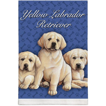 Fiddlers Elbow/toy Works Yellow Labrador Retriever Puppies - Favorite Dog Breed Kitchen Dish Towel