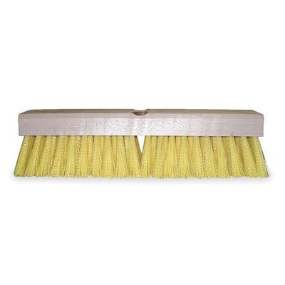 TOUGH GUY 1DU74 Floor and Deck Brush, 12 In Blck, 2 In Trm