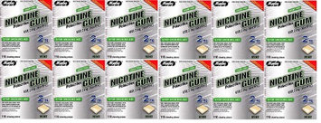 RUGBY NICOTINE GUM 2MG MINT NICOTINE POLACRILEX-2 MG off white 110 CT UPC