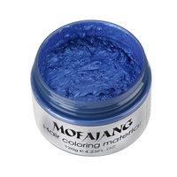 YWSiwa Temporary Hair Clay Wax Mud Cream Hair Ash Dye DIY, Blue