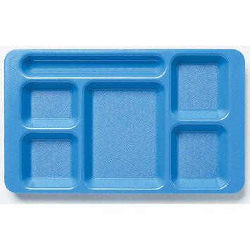 Cambro 2x2 Polycarbonate 6-Compartment Cafeteria Trays 24PK, Blue, 1596CW-168