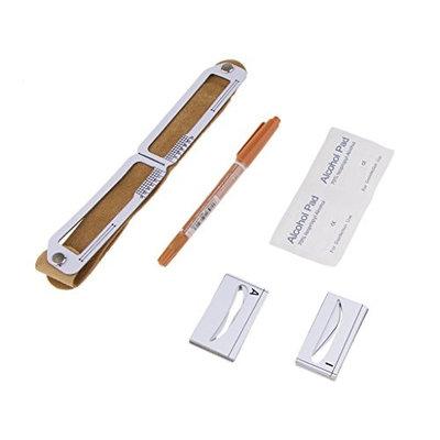 MagiDeal Eyebrow Card Pencil Ruler Kit 3D Magnetism Eyebrow Permanent Makeup Tools