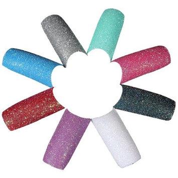100Pcs Acrylic Colors Glitter Twinkle Manicure False Slice Nail Art Tips Design Red