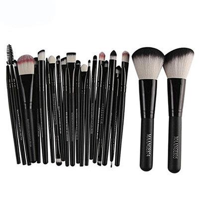 Nesix Makeup EyeShadow Brush Set - 22pcs Premium Mermaid Foundation Powder Eyeshadow Eyeliner Wood Makeup Tool Kit, Eye Shadows Eyeliner Blending Brush Cosmetic Lip Makeup Brushes set