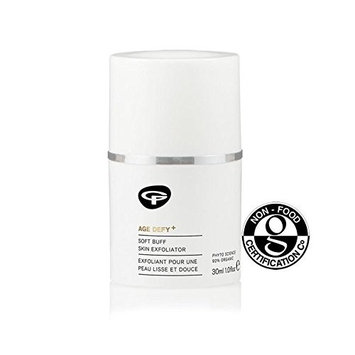 Green People Age Defy+ Soft Buff Skin & Face Exfoliator 30ml - (Pack of 2)
