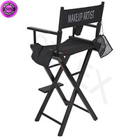 DzVeX_Foldable Lightweight Professional Makeup Artist Directors Chair - Black And rolling makeup case with drawers rolling makeup train case mac rolling makeup case rolling makeup case with lighted