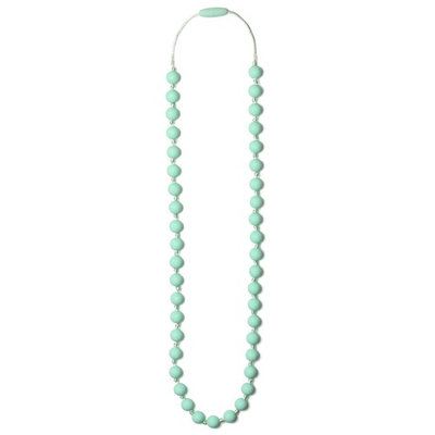 Mama & Little Lexi Silicone Baby Teething Necklace for Moms - Nursing Necklace in Mint - Teething Beads and Baby Teething Toys
