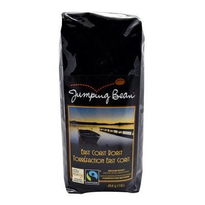 Jumping Bean Coffee East Coast Roast Fair Trade and Organic, Whole Bean - 1 lb