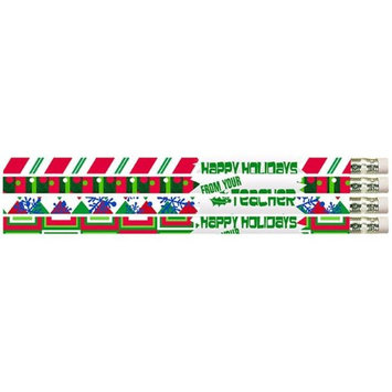 Musgrave Pencil MUS2519DBN Happy Holidays From Your Teacher Pencils - 12 Dozen - 12 per Pack