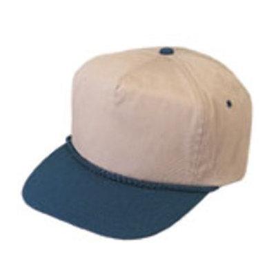 Ddi Cotton Twill Cap - Navy/Khaki (Pack Of 144)