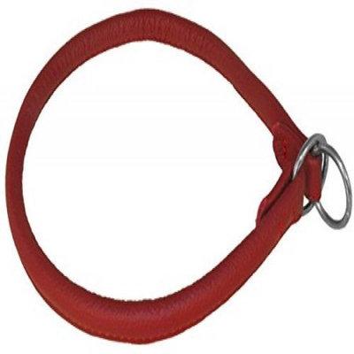 Dogline L1312-3 12 L x 0. 25 W inch Round Leather Choke Collar, Red