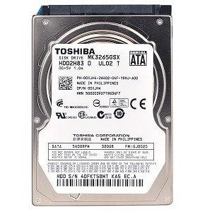 Hitachi Refurbished Toshiba MK3265GSX 320GB HDD SATA/300 5400RPM 8MB 2.5