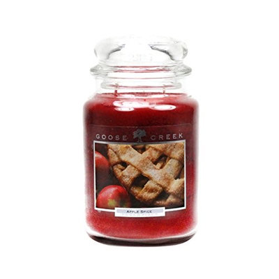 Goose Creek 26-Ounce Apple Spice Essential Jar Candle with Glass Lid