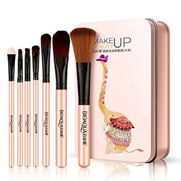 7pcs Makeup Brushes with Case,2 colors for choice, Travel Make-up Brush suits Make-up Tools Beauty Optional Cosmetic Brush Foundation Eye Face Brush Bag Kits (Purple)