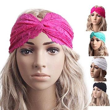 DEESEE(TM) Women Headwear Twist Sport Yoga Lace Headband Turban Headscarf Wrap Modern