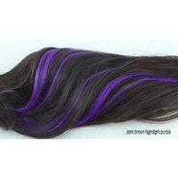 X&Y ANGEL New Fashion Two Tone Curly Highlights Snap Hook Ponytail Hair Extension Hairpiece H012 (dark brown to purple)