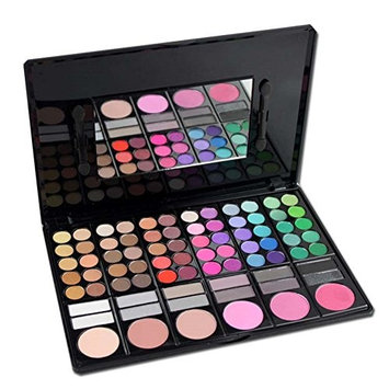 PhantomSky 78 Color Eyeshadow Palette Makeup Cosmetic Contouring Kit Combination with Blusher / Lipgloss / Concealer #2 - Perfect for Professional and Daily Use
