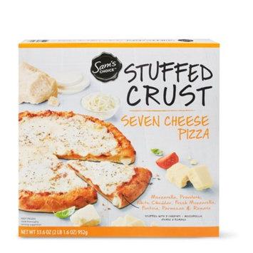 Sam's Choice Frozen Stuffed Crust Seven Cheese Pizza, 33.6 oz