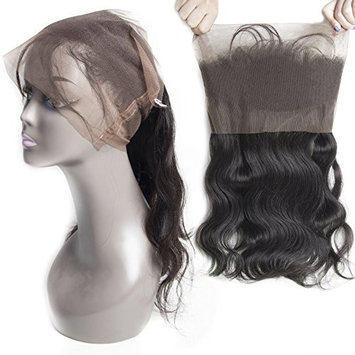 VIPbeauty Virgin Hair Malaysian 360 Lace Frontal Closure Pre Plucked with Baby Hair Natural Hairline Unprocessed Water Wave Human Hair 16 inches
