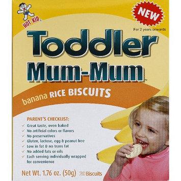 Hot Kid Toddler Mum-Mum Banana Rice Biscuits, 1.76 oz, (Pack of 6)