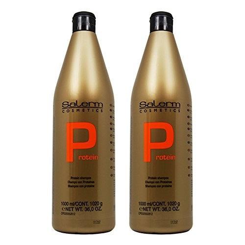 "Salerm Protein Shampoo 36oz / 1000ml ""Pack of 2"""